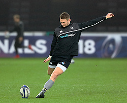 Ospreys' Dan Biggar during the pre match warm up<br /> <br /> Photographer Simon King/Replay Images<br /> <br /> EPCR Champions Cup Round 4 - Ospreys v Northampton Saints - Sunday 17th December 2017 - Parc y Scarlets - Llanelli<br /> <br /> World Copyright © 2017 Replay Images. All rights reserved. info@replayimages.co.uk - www.replayimages.co.uk