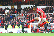 Nottingham Forest defender Michael Mancienne (4) clears during the EFL Sky Bet Championship match between Nottingham Forest and Burton Albion at the City Ground, Nottingham, England on 21 October 2017. Photo by John Potts.