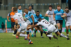 March 23, 2019 - Sydney, NSW, U.S. - SYDNEY, NSW - MARCH 23: Waratahs player Kurtley Beale (12) is tackled by Hurricanes player TJ Perenara (9) at round 6 of Super Rugby between NSW Waratahs and Crusaders on March 23, 2019 at The Sydney Cricket Ground, NSW. (Photo by Speed Media/Icon Sportswire) (Credit Image: © Speed Media/Icon SMI via ZUMA Press)