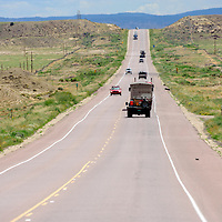 082014       Adron Gardner<br /> <br /> Traffic flows north and south on U.S. Highway 491 north of Buffalo Springs  Wednesday.