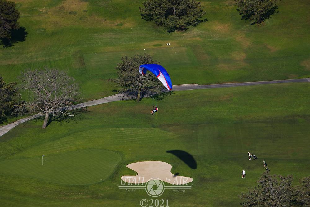 Paragliding on the California Coastline