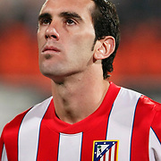 Atletico Madrid's Diego Godin during their UEFA Europa League Round of 16, Second leg soccer match Besiktas between Atletico Madrid at Inonu stadium in Istanbul Turkey on Thursday March 15, 2012. Photo by TURKPIX