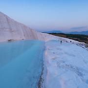 White calcium cascades and terraces of Pamukkale, Turkey