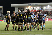 Chiefs prepare for a scrum. Waratahs vs Chiefs. Super Rugby round 6 match played at WIN Stadium, Wollongong NSW on Friday 6 March 2020. Photo Clay Cross / photosport.nz