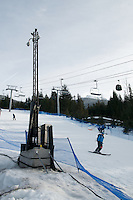 The scene at Whistler Creekside 8 days until the Vancouver 2010 Olympics.