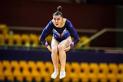 October 28, 2018 - Doha, Quatar - Louise Vanhille of France   during  Floor qualification at the Aspire Dome in Doha, Qatar, Artistic FIG Gymnastics World Championships on 28 of October 2018. (Credit Image: © Ulrik Pedersen/NurPhoto via ZUMA Press)
