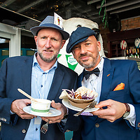 REPRO FREE<br /> Jim Moore and Aidan Duke from Kinsale pictured at the 43nd Kinsale Gourmet Festival Mad Hatters Taste of Kinsale.<br /> Picture. John Allen