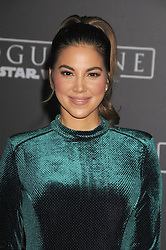 December 10, 2016 - Los Angeles, California, United States - December 10th 2016 - Los Angeles California USA - Actress LIZ HERNANDEZ  at the World Premiere for ''Rogue One Star Wars'' held at the Pantages Theater, Hollywood, Los Angeles  CA (Credit Image: © Paul Fenton via ZUMA Wire)