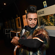 Mr Fabulous - Jay Kamiraz  holding a snake at BBC1 All Together Now Series 1 Cast Members, fright night at The London Bridge Experience & London Tombs on 28 October 2018, London, UK.