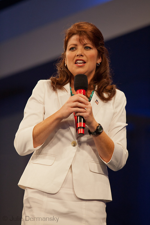 August 26, 2012, Tampa Florida, Florida, Lieutenant Governor Rebecca Kleefish speaks at the Tea Part's Unity Rally preceding the RNC encouraging supporters to vote for the Romney ticket.