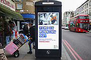 A Government poster on a phone box warning that time is running to prepare for Brexit on 12th December 2020 in London, United Kingdom. Brexit is imminent and businesses are advised to prepare even though no one knows what Brexit will mean yet.