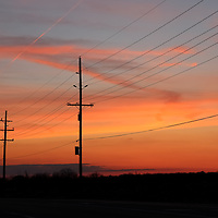 """Still on the Line""<br /> <br /> A lineman's Sunset!<br /> <br /> Sunset Images by Rachel Cohen"