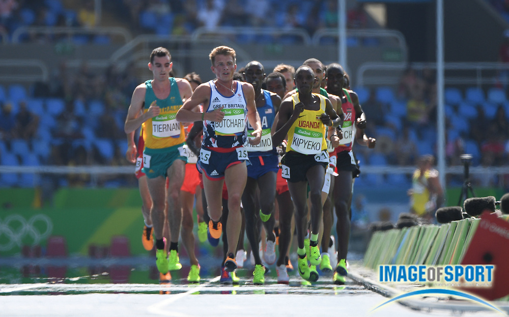 Aug 17, 2016; Rio de Janeiro, Brazil; Andrew Butchart (GBR) during the men's 5000m heats in the Rio 2016 Summer Olympic Games at Estadio Olimpico Joao Havelange. Mandatory Credit: James Lang-USA TODAY Sports