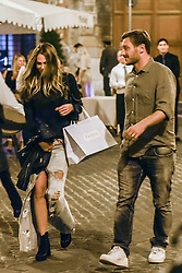EXCLUSIVE: Excl. As Roma former star Francesco Totti and showgirl wife Ilary Blasi are spotted dinig at Pierluigi's restaurant downtown Rome. 15 Sep 2017 Pictured: Francesco Totti, Ilary Blasi. Photo credit: AM1999 / MEGA TheMegaAgency.com +1 888 505 6342