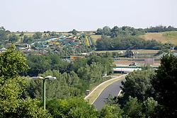 23.07.2015, Hungaroring, Budapest, HUN, FIA, Formel 1, Grand Prix von Ungarn, Vorberichte, im Bild Blick auf den Aquapark direkt an der Rennstrecke die im Vordergrund zu sehen ist // during the preperation of the Hungarian Formula One Grand Prix at the Hungaroring in Budapest, Hungary on 2015/07/23. EXPA Pictures © 2015, PhotoCredit: EXPA/ Eibner-Pressefoto/ Bermel<br /> <br /> *****ATTENTION - OUT of GER*****