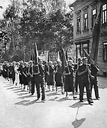 German Social Democratic students protest against  Nazism in August 1938.