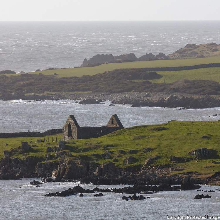 St Ninian's Chapel, previously a chapel linked to Whithorn Priory and a stopping off point for pilgrims landing here, Isle of Whithorn, Dumfries and Galloway, Scotland.