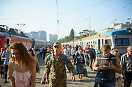 Passengers disembark a train in Odessa, Ukraine<br /> <br /> (September 2016)