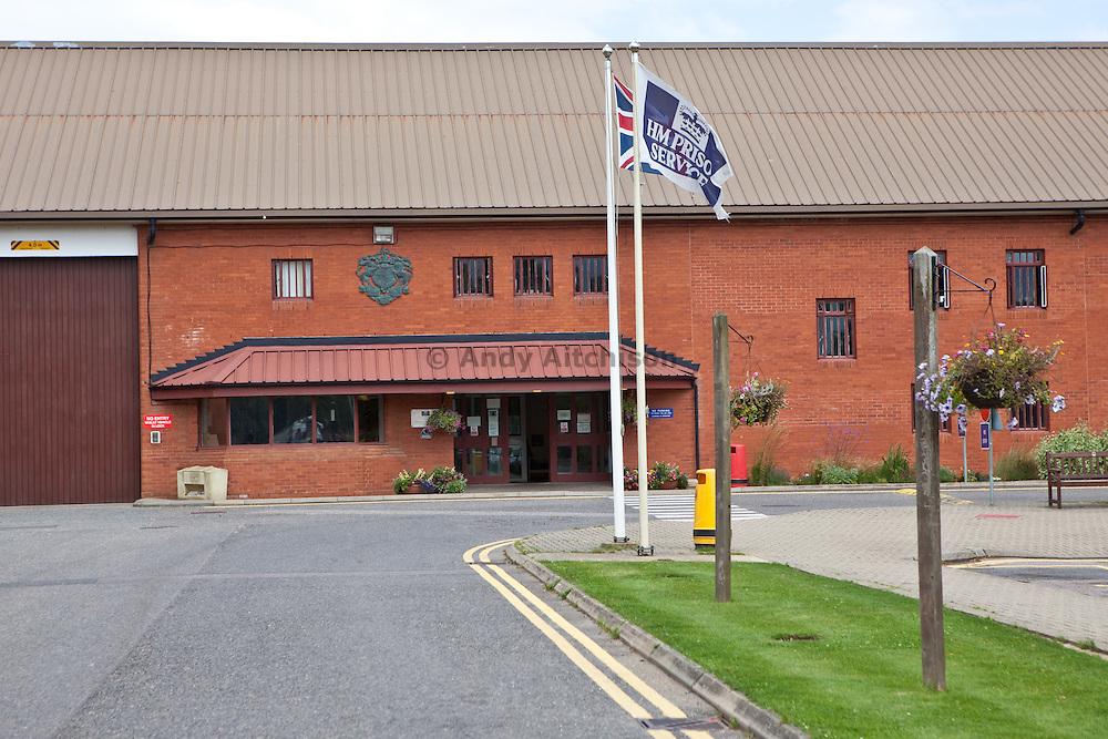 The main prison entrance. HMP The Mount, Bovingdon, Hertfordshire