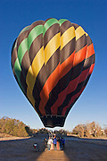 Hot air balloon ready for lift off in Taos NM.<br />