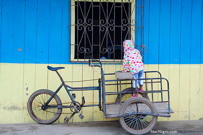 Bicycle & Child Muisne, Ecuador by Star Nigro<br /> <br /> <br /> <br /> © 2021 All artwork is the property of STAR NIGRO.  Reproduction is strictly prohibited.