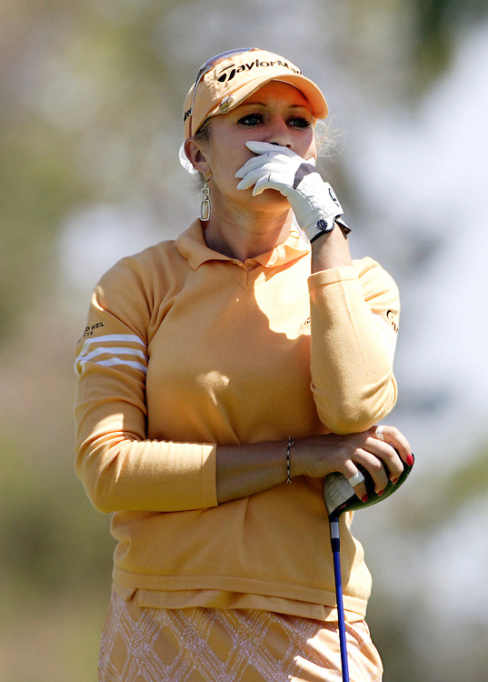 Natalie Gulbis at the Kraft Nabisco Championship.