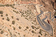 Road in the Dades canyon, Dades valley, Morocco.