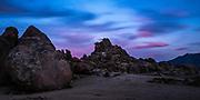 Alabama Hills Landscape At Sundown