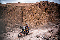 Luciano Benavides (ARG) of Red Bull KTM Factory Team  races during stage 5 of Rally Dakar 2019 from Moquegua to Arequipa, Peru on January 11, 2019. // Flavien Duhamel/Red Bull Content Pool // AP-1Y3N7J1C52111 // Usage for editorial use only // Please go to www.redbullcontentpool.com for further information. //