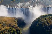 Victoria Falls, Zambesi River, Zambia - Zimbabwe border.