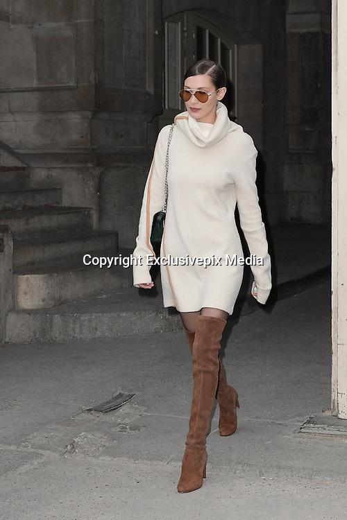 Bella Hadid - Show Chanel - Paris Fashion Week Haute Couture Spring-Summer 2017 <br /> ©Exclusivepix Media