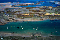 France, Manche (50), îles Chausey, vue aerienne // France, Normandy, Manche department, Chausey isands, aerial view