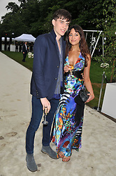 SEB BRICE and NATALIE FARMER at the annual Serpentine Gallery Summer Party sponsored by Burberry held at the Serpentine Gallery, Kensington Gardens, London on 28th June 2011.
