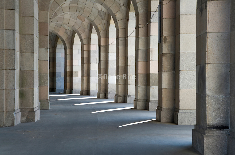round corridor at the old congress hall in Nuremberg
