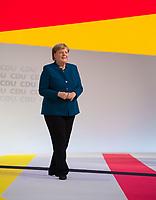 DEU, Deutschland, Germany, Hamburg, 07.12.2018: Bundeskanzlerin Dr. Angela Merkel (CDU) nach ihrer letzten Rede als CDU-Vorsitzende beim Bundesparteitag der CDU in der Messe Hamburg.
