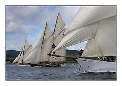the Class 1 start with Altair 1931 Schooner, Mariette 1915 Gaff Schooner and Mariquita 1911 a 19 metre ..Mixed and bright conditions for the fleet as they race from Kames to Largs...* The Fife Yachts are one of the world's most prestigious group of Classic .yachts and this will be the third private regatta following the success of the 98, .and 03 events.  .A pilgrimage to their birthplace of these historic yachts, the 'Stradivarius' of .sail, from Scotland's pre-eminent yacht designer and builder, William Fife III, .on the Clyde 20th -27th June.   . ..More information is available on the website: www.fiferegatta.com . .Press office contact: 01475 689100         Lynda Melvin or Paul Jeffes
