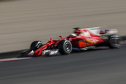 March 1, 2017 - Montmelo, Catalonia, Spain - SEBASTIAN VETTEL (GER) drives in his Ferrari SF70H on track during day 3 of Formula One testing at Circuit de Catalunya (Credit Image: © Matthias Oesterle via ZUMA Wire)