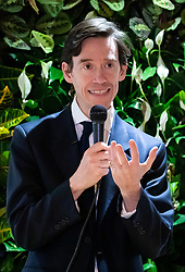 © Licensed to London News Pictures. 05/06/2019. London, UK. Secretary of State for International Development Rory Stewart speaks at an impromptu event in Central London this evening, as part of his #RoryWalks series. The Conservative MP is campaigning to become the new British Prime Minister, as current British Prime Minister Theresa May is due to stand down on Friday 7 June. Photo credit : Tom Nicholson/LNP