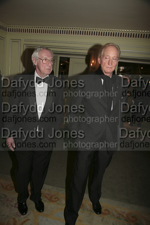 Barry Norman and Charles Dance, Cocktail party before the  27th Annual London Film Critics' Circle Awards. In aid of the NSPCC. Dorchester. 8 February 2007.  -DO NOT ARCHIVE-© Copyright Photograph by Dafydd Jones. 248 Clapham Rd. London SW9 0PZ. Tel 0207 820 0771. www.dafjones.com.