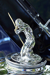 06 August 2016:  1931 Pierce Arrow Club Sedan 43 mascot (hood ornament)<br /> Owners: Reggie & Janet Hankins<br /> <br /> Displayed at the McLean County Antique Automobile Association Car show at David Davis Mansion in Bloomington Illinois