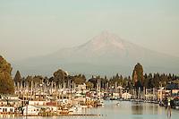 Marina along the Columbia River in Portland, Oregon.