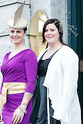 Andrea and Linda Tighe, Galway at the Hotel Meyrick Most Stylish Lady event on ladies day of The Galway Races. Photo:Andrew Downes