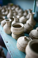 Craft products displayed in a shop of Thanh Ha pottery village, near Hoi An, Vietnam, Southeast Asia