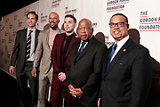 New York, New York- June 6: (L-R) Peter Kunhardt, Executive Director, The Gordon Parks Foundation,  Recording Artist/Actor Common, Alex Soros (Honoree) U.S. Representatives John Lewis and Keith Ellison attend the 2017 Gordon Parks Foundation Awards Dinner celebrating the Arts & Humanitarianism held at Cipriani 42nd Street on June 6, 2017 in New York City.   (Photo by Terrence Jennings/terrencejennings.com)