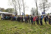 Friday 1 November 2013: Spectators queue for food during the Koppenbergcross 2013 event. Copyright 2013 Peter Horrell
