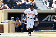 WINSTON-SALEM, NC - JUNE 02: Maryland's Marty Costes. The West Virginia University Mountaineers played the University of Maryland Terrapins on June 2, 2017, at David F. Couch Ballpark in Winston-Salem, NC in NCAA Division I College Baseball Tournament Winston-Salem Regional Game 1. West Virginia won the game 9-1.