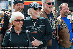 Willie G. and Nancy Davidson at Wednesday's Ride-In Bike Show at the Harley-Davidson display during Daytona Bike Week. FL, USA. March 12, 2014.  Photography ©2014 Michael Lichter.