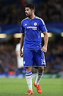 Diego Costa of Chelsea looks on. UEFA Champions league group G match, Chelsea v Porto at Stamford Bridge in London on Wednesday 9th December 2015.<br /> pic by John Patrick Fletcher, Andrew Orchard sports photography.