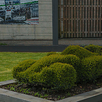 Even the shrubs are race car shapes at FIA WEC 6 Hours of Silverstone 2017, Silverstone International Circuit, on 13.04.2017