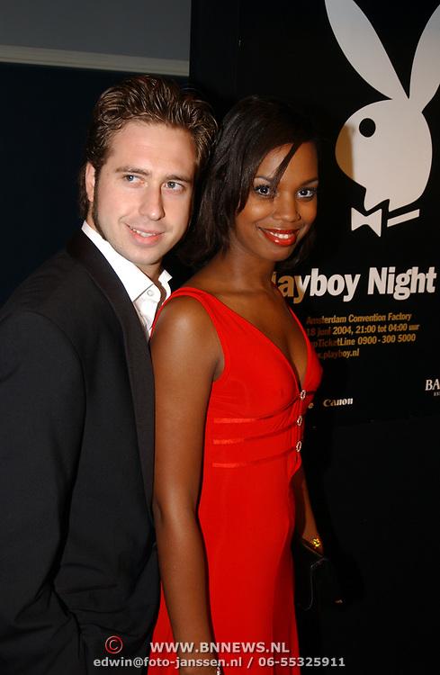 Playboy Night 2004, Jasmine Sendar en vriend Rutger Fahrner